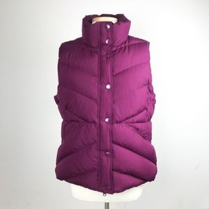 J. Crew Sherpa Puffer Vest quilted down in Purple